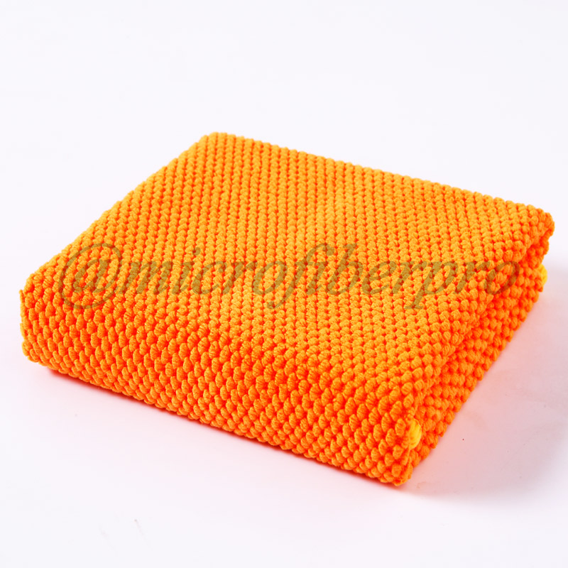 Big Size Pearl Mesh Knitting Microfiber Cleaning Towel